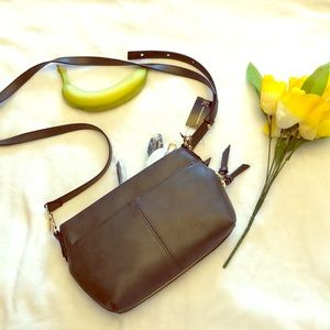 I•N•C   Crossbody bag dark grey leather